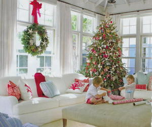 children, christmas, and cottage image