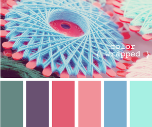 blue, bright pink, and green image
