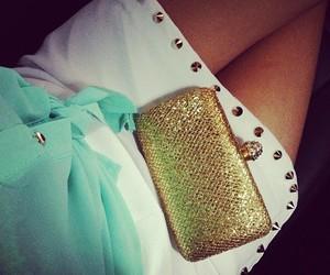 bag, beautiful, and skirt image