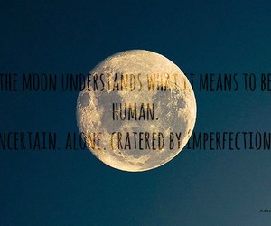 beautiful, imperfection, and moon image