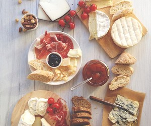 bread, table, and breakfast image