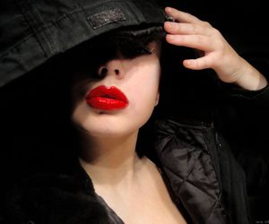 lips, sexy, and red image