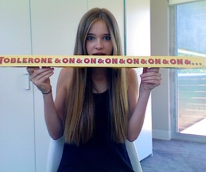 toblerone, chocolate, and blonde image