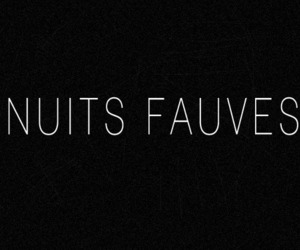nuits fauves french words image