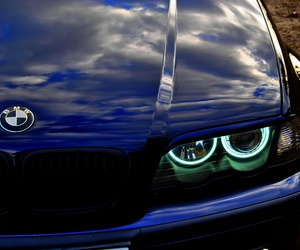 bmw, car, and angel eyes image