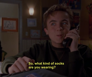 funny, Malcolm, and socks image