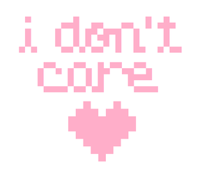 pink, heart, and i don't care image