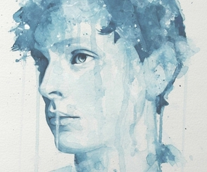 boy and watercolor image