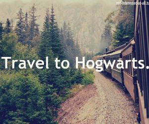hogwarts, harry potter, and travel image