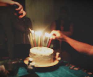 vintage, birthday cake, and candle image