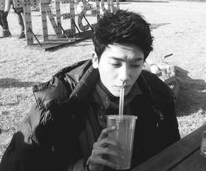 black and white, bw, and drink image