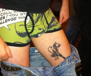 boxers, tattoo, and x-men image