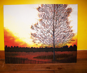 canvas, countryside, and sunset image