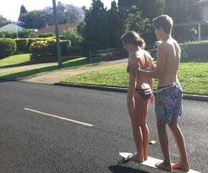 couple, skateboard, and cute image