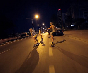 girls, skateboard, and streets image