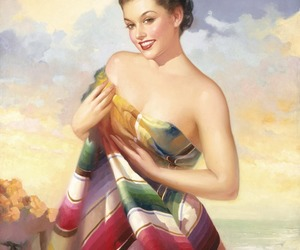 50's, art, and beautiful image