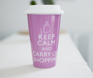 keep calm, pink, and shopping image