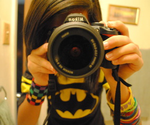 girl, batman, and camera image
