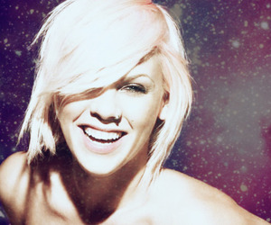 pink, P!nk, and smile image