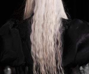 black, blonde, and hair image