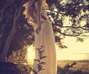 dress, hair, and girl image