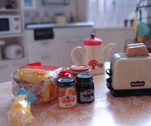 bread, dollhouse, and food image
