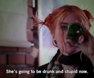 alcohol, eternal sunshine of the spotless mind, and pink hair image
