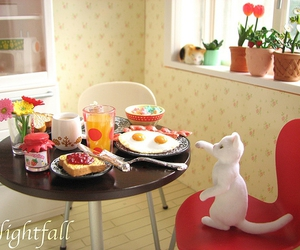breakfast, cats, and dollhouse image
