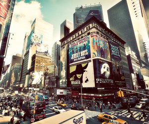 city, people, and manhattan image