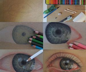 drawing, eyes, and draw image