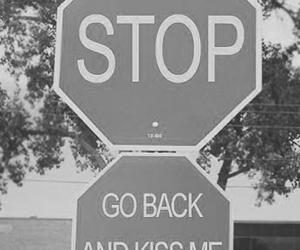 stop, kiss, and love image