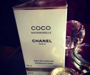 chanel, gold, and perfum image