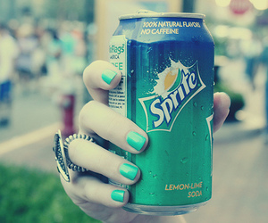 sprite, nails, and green image