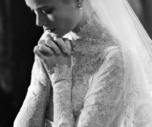 wedding, grace kelly, and dress image