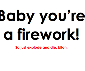 bitch, fireworks, and die image