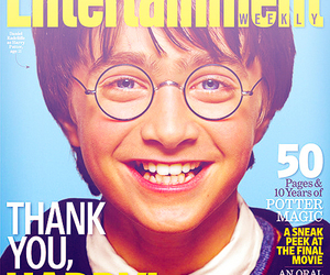 daniel radcliffe, harry potter, and entertainment weekly image