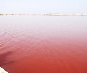 senegal and lake retba image