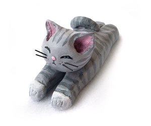 cute cat, etsy, and grey cat image