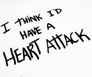 heart attack, demi lovato, and text image