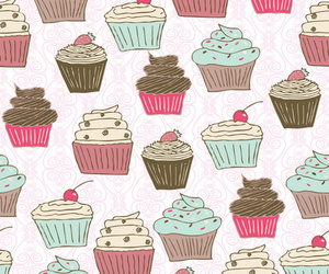 background and cupcakes image