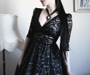 black, gothic, and tattoo image