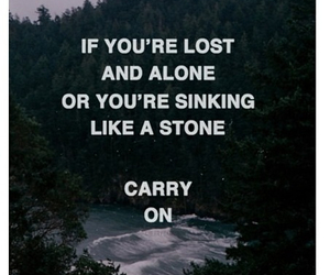 carry on, lost, and alone image
