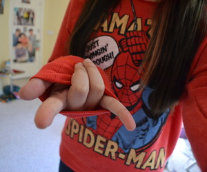 girl, photography, and spiderman image