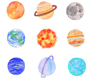 planet, earth, and art image