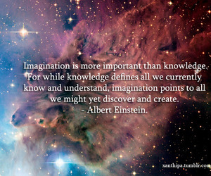 Albert Einstein, imagination, and knowledge image