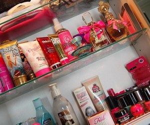 pink, perfume, and girly image
