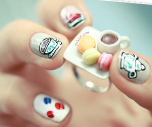 nails, tea, and food image