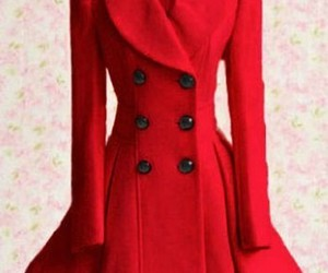 coat, girl, and red image