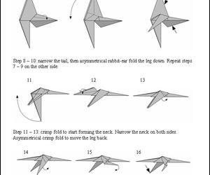 Origami Dinosaur Folding Instructions