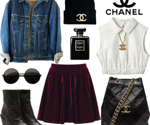 backpack, chanel, and denim image